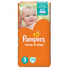 Pampers Sleep&Play 3 Midi (4-9 kg) 78 db