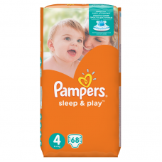 Pampers Sleep&Play 4 Maxi (7-18 kg) - 68 db