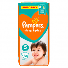 Pampers Sleep&Play 5 Junior (11-16 kg) - 58 db