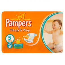 Pampers Sleep&Play 5 Junior (11-25 kg) - 42 db