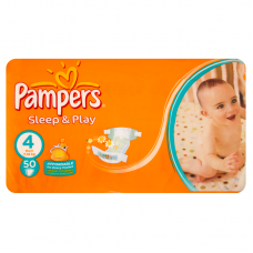 Pampers Sleep&Play 4 Maxi (7-18 kg) - 50 db