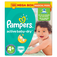 Pampers Active Baby Dry 4+ Maxi+ (9-16 kg) - 152 db