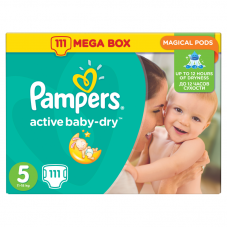 Pampers Active Baby-Dry 5 Junior (11-18 kg) - 111 db