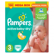 Pampers Active Baby-Dry 3 Midi (4-9 kg) - 150 db