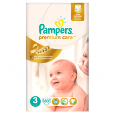 Pampers Premium Care 3 (5-9 kg) - 60 db