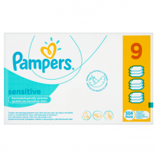Pampers Sensitive baba törlőkendő 9 x 56 db