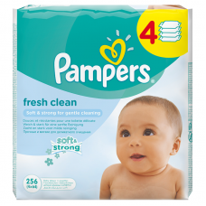 Pampers Fresh Clean baba törlőkendő 4 x 64 db