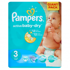 Pampers Active Baby-Dry 3 Midi (4-9 kg) - 90 db