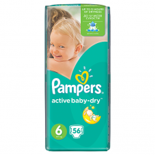 Pampers Active Baby-Dry 6 (15 kg+ ) - 56 db