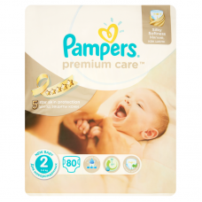 Pampers Premium Care 2 New Baby (3-6 kg) - 80 db