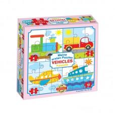 4 in 1 puzzle - Járművek