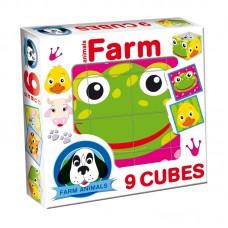 Kis mesekocka 9 db - Farmon élő állatok