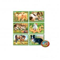 Mini mesekocka 6 db - Farmon élő állatok