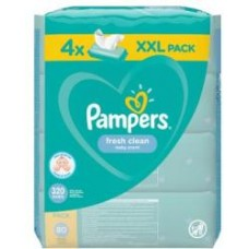 Pampers Fresh Clean baba törlőkendő 4 x 80 db
