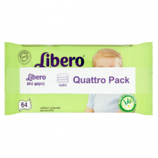 Libero Wet Wipes Quattro Pack - 256 db