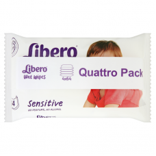 Libero Wet Wipes Sensitive Quattro Pack - 256 db
