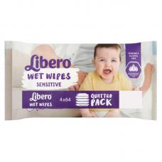 Libero Wet Wipes Sensitive Quattro Pack - 256 db