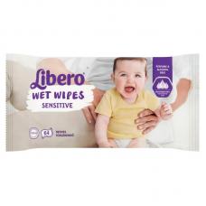 Libero Wet Wipes  Sensitive Új fajta 64 db