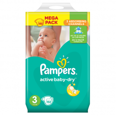 Pampers Active Baby-Dry 3 Midi (4-9 kg) - 152 db