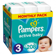 Pampers Active Baby 3 Midi (6-10 kg) - 208 db
