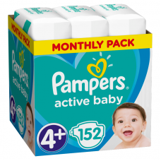 Pampers Active Baby 4+ Maxi+ (10-15 kg) - 152 db