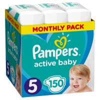 Pampers Active Baby 5 Junior (11-16 kg) - 150 db