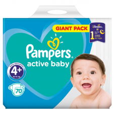 Pampers Active Baby 4+ Maxi+ (10-15 kg) - 70 db