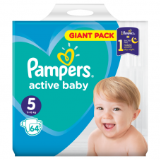 Pampers Active Baby 5 Junior (11-16 kg) - 64 db