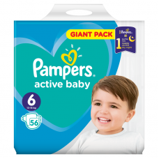 Pampers Active Baby 6  (13-18 kg) - 56 db