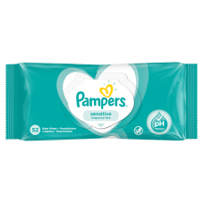 Pampers Sensitive törlőkendő 52 db