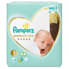 Pampers Premium Care 1 Newborn (2-5 kg) - 78 db