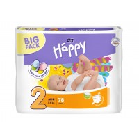 Bella Happy 2 Mini (3-6 kg) pelenka BIG PACK - 78 db