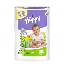 Bella Happy 4 Maxi (8-18 kg) pelenka BIG PACK - 66 db