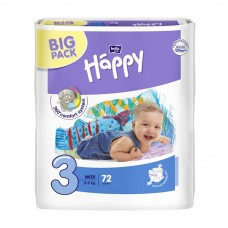 Bella Happy 3 Midi (5-9 kg) pelenka BIG PACK - 72 db