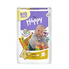 Bella Happy 4+ Maxi + (9-20 kg) pelenka BIG PACK - 62 db