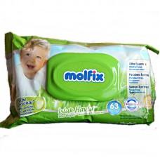 Molfix törlőkendő kupakos - 60 db.
