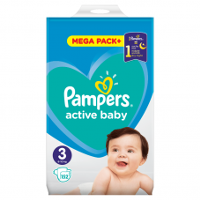 Pampers Active Baby 3 Midi (5-9 kg) - 152 db