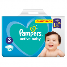 Pampers Active Baby 3 Midi (6-10 kg) - 90 db