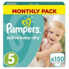 Pampers Active Baby-Dry 5 Junior (11-18 kg) - 150 db