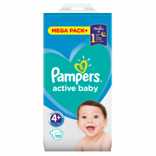 Pampers Active Baby 4+ Maxi+ (10-15 kg) - 120 db