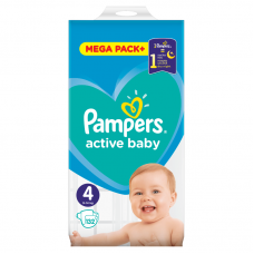Pampers Active Baby 4 Maxi (9-14 kg) - 132 db