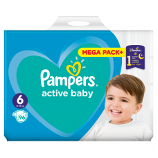 Pampers Active Baby 6 (15 kg+ ) - 96 db