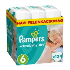 Pampers Active Baby-Dry 6 (15 kg+ ) - 124 db