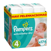 Pampers Active Baby-Dry 4 Maxi (7-14 kg) - 174 db