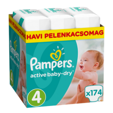 Pampers Active Baby-Dry 4 Maxi (8-14 kg) - 174 db