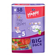 Bella Happy 5 Junior (12-25 kg) BIG PACK - 58 db