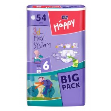 Bella Happy 6 Junior Extra (16+ kg) pelenka BIG PACK - 54 db