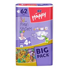 Bella Happy 4+ Maxi + (9-20 kg) BIG PACK - 62 db