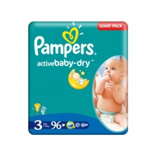 Pampers Active Baby-Dry 3 Midi (4-9 kg) - 96 db